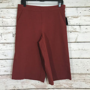 NWT Forever 21 Wide Leg Cargo Rust Pants